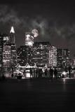 Lua sobre Manhattan Imagens de Stock Royalty Free