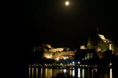Lua sobre o monte Fotografia de Stock Royalty Free