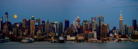 Lua super PanoramaR Imagens de Stock Royalty Free