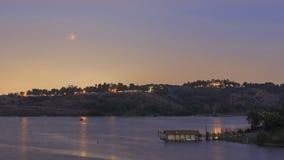 Lua vermelha perto de Los Angeles, Califórnia Foto de Stock Royalty Free