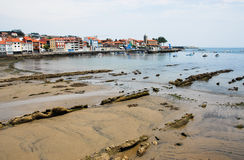 Luanco in Spain. Luanco, beach and town in Spain Stock Photo