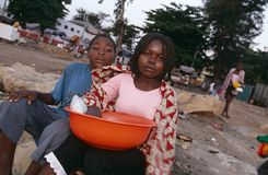 Luanda, Angola. Street Children in Luanda Angola Royalty Free Stock Photography