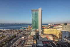 LUANDA/ANGOLA - 10FEB2019 - View of the Luanda downtown with Hotel Presidente. Luanda. Angola stock image