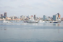 Luanda Skyline, Bay Waterfront Skyscrapers, Angola Royalty Free Stock Photo