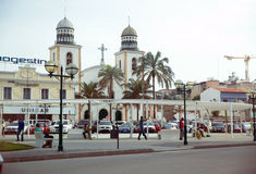 Luanda Cathedral Square, Angola - African Cityscape Royalty Free Stock Photography