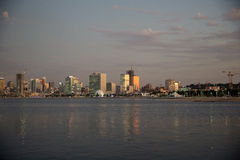Luanda Cityscape at Dusk_Angola Waterfront _Night Stock Photos