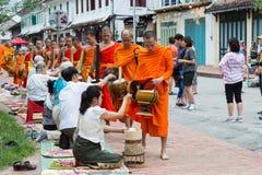 Luang, Prabang, Louangphrabang,城市,老挝,寺庙,修道院, a 免版税库存图片