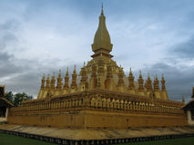 That Luang Buddhist stupa Vientiane, Laos. Royalty Free Stock Photo