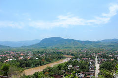 Luang Phabang. Good view in northern of laos Royalty Free Stock Photography