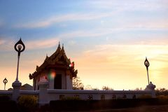 Luang Pho canta a corte Fotografia de Stock