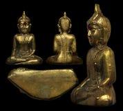 Luang Pho Phra Sai Nongkhai菩萨护身符 库存图片