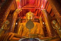 Luang Pho Tho, Wat Phanan Choeng,阿尤特拉利夫雷斯,泰国 库存图片
