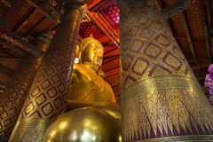 Luang Pho Tho, 19 meter tall Buddha, Wat Phanan Choeng, Ayutthaya, Thailand. The statue is regarded as a guardian for mariners. Allegedly, prior to the stock photos