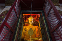 Luang Pho Tho, 19 meter tall Buddha, Wat Phanan Choeng, Ayutthaya, Thailand. The statue is regarded as a guardian for mariners. Allegedly, prior to the royalty free stock photos
