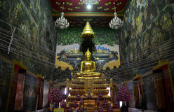 Luang Pho Wat Rai Khing is a statue of Buddha for people praying Royalty Free Stock Photography