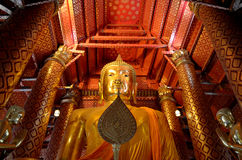 Luang Phor Toh em Wat Yai Chaimongkol Foto de Stock Royalty Free