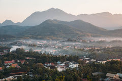 Luang Pra Bang CIty Scape, Laos. Stock Photo