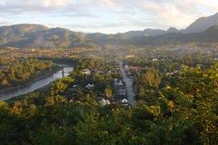 luang prabang风景城镇 库存照片