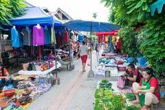 Luang Prabang, Λάος - 13 Ιουνίου 2015: Αγορά πρωινού Prabang Luang Στοκ Φωτογραφία
