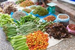 Luang Prabang, Λάος - 13 Ιουνίου 2015: Αγορά πρωινού Prabang Luang Στοκ Φωτογραφίες