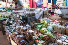Luang Prabang, Λάος - 13 Ιουνίου 2015: Αγορά πρωινού Prabang Luang Στοκ φωτογραφία με δικαίωμα ελεύθερης χρήσης