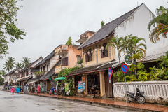 Luang Prabang, Λάος - τον Αύγουστο του 2015 circa: Οδοί Luang Prabang, Λάος Στοκ εικόνες με δικαίωμα ελεύθερης χρήσης