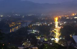 Luang Prabang above twilight view,Laos . Royalty Free Stock Photography