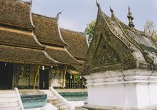Luang prabang buddhist temples laos Stock Photo