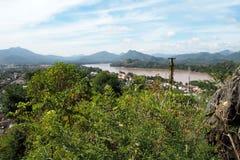 Luang prabang landscap in Laos Royalty-vrije Stock Afbeelding
