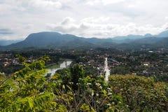 Luang prabang landscap in Laos Royalty-vrije Stock Fotografie