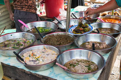 Luang Prabang, Laos - Jun 13 2015: Luang Prabang Morning Market. The Morning Market is a popular souvenir shopping site for tourists Royalty Free Stock Images
