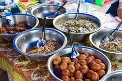 Luang Prabang Laos, Jun, - 13 2015: Luang Prabang ranku rynek Obrazy Royalty Free