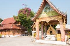 Luang Prabang Laos, Mar 05 2015, -: BEDNIA SENSOUKHARAM sławny Te zdjęcie stock