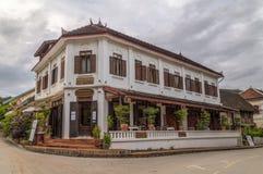 Luang Prabang, Laos - około Sierpień 2015: Saynamkhan hotel w Luang Prabang, Laos Obraz Royalty Free