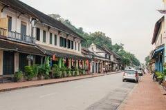 LUANG PRABANG, LAOS - OKTOBER 26 Arkivfoto