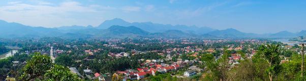 Luang Prabang, Laos, panorama Royaltyfri Fotografi