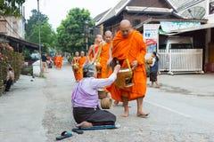 Luang Prabang, Louangphrabang, stad, Laos, tempel, kloster, a Royaltyfri Foto
