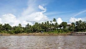Luang Prabang and Mekong Stock Photo