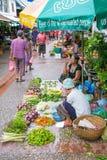 Luang Prabang Morning Market on June 9, 2015 in Luang Prabang Laos. Stock Photo