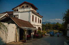 Luang Prabang ` s stary miasteczko, Laos Obrazy Stock
