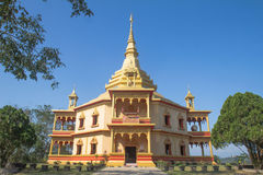 Luang prabang temples royalty free stock photo