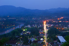 Luang Prabang top view (mountain view) Stock Photography
