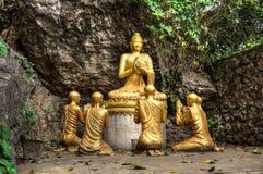 Luang Prabang und der Mekong von Mt Phousi Stockbilder