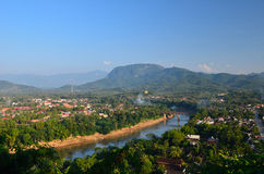 Luang prabang viewpoint Stock Photo