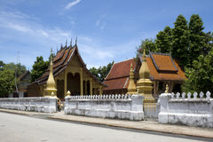 Luang Prabang - Wat Sensoukharam Royalty Free Stock Photo