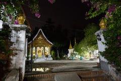 Luang Prabang, _Wat Xieng Thong di maggio 8,2015 nella notte Immagine Stock Libera da Diritti