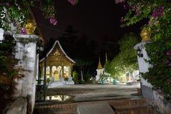 Luang Prabang, _Wat Xieng Thong di maggio 8,2015 nella notte Immagini Stock