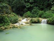Luang Prabang Waterfall. Photo of a waterfall in luang prabang, laos Stock Photography