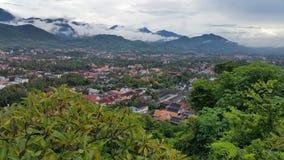 Luang Prabang widok od góry Phousi Zdjęcie Royalty Free