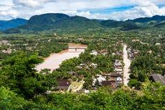 Luang Prabang widok z lotu ptaka Obrazy Royalty Free